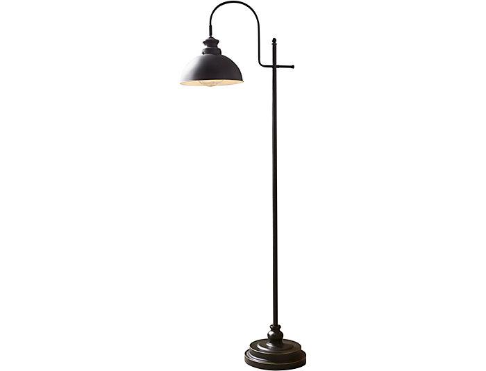 Rubbed Bronze Task Floor Lamp Art Van Home