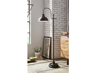 Rubbed Bronze Task Floor Lamp, , large