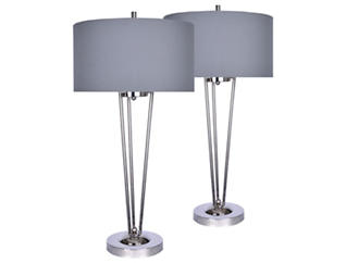 Modern Pair of Table Lamps, , large