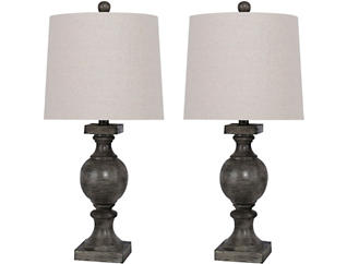 Pair of Flint Grey Table Lamps, , large