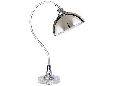 "Dax 29.25"" Nickel Desk Lamp, , large"