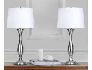Brushed Nickel Lamp (Set of 2), , large
