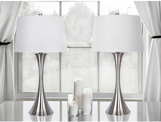 Nickel Table Lamp (Set of 2), , large