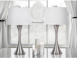 Nickel Table Lamp (Set of 2), , large