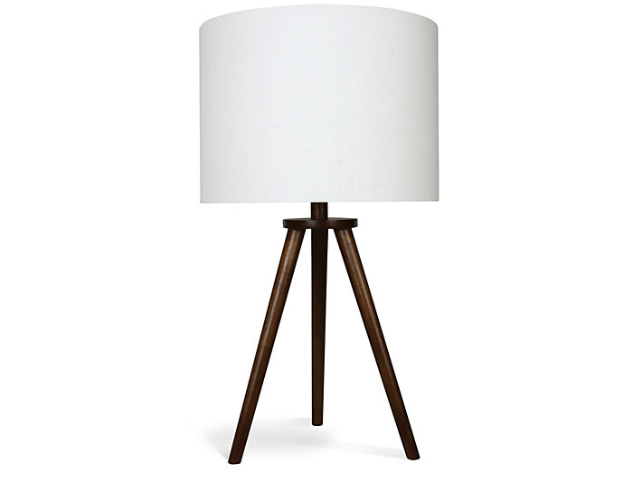 Wooden Tripod Table Lamp Art Van Home