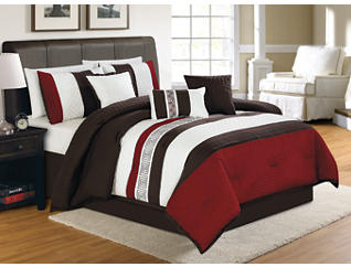 Ethan 7 pc Queen Comforter Set, , large