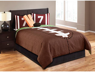 Field Goal 7 Piece Full Comforter, , large