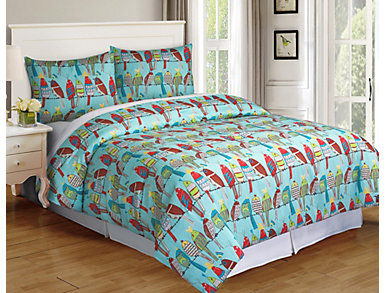 Party Birds 2 pc Twin Comf Set, , large