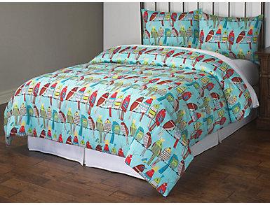Friend 3 Piece Full Comforter Set, , large