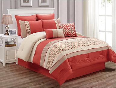 Jaylin 8pc Queen Comforter Set, , large