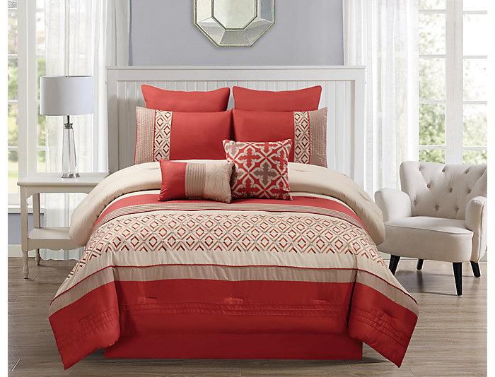 Jaylin 8 Piece Queen Comforter Set | Art Van Home