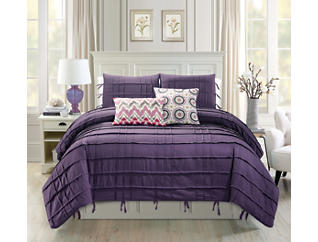 Textured 5Pc King Comforter, , large