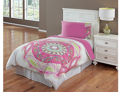 Native 3 Piece Full Comforter Set, , large