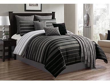 Brennan 10PC Qn Comforter Set, , large