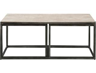 Modern Basics Rectangular Coffee Table, Ivory, , large