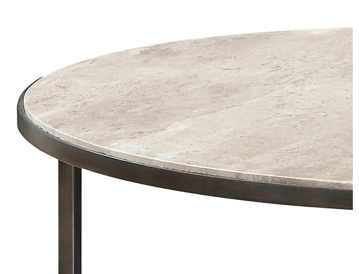 Super Modern Basics Ivory Round Coffee Table Caraccident5 Cool Chair Designs And Ideas Caraccident5Info