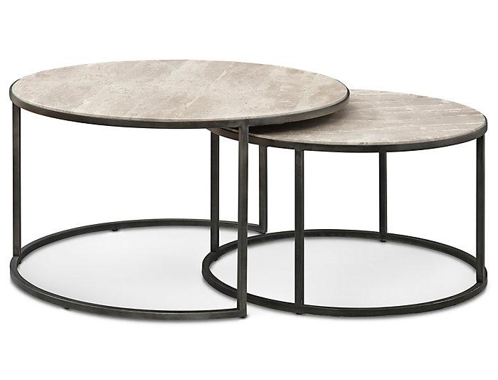 Modern Basics Round Coffee Table, Ivory, , large
