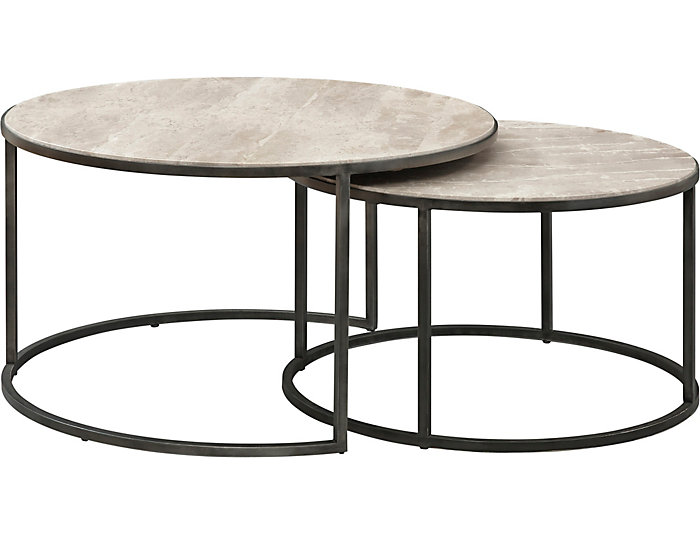 Modern Basics Ivory Round Coffee Table