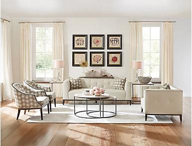 Modern Basics Ivory Chairside Table, , large