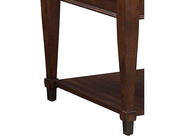 Sunset Valley Drawer End Table, Brown, , large