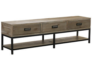 Parsons Bench Coffee Table, Brown, , large