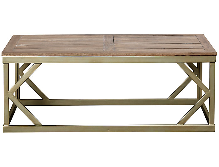 Modern Theory Rectangular Coffee Table, Brown, , large