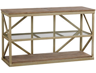 Modern Theory Sofa Table, Brown, , large