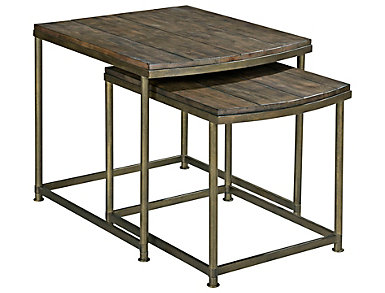 Leone Brown Nesting End Table, , large