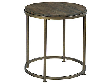 Leone Brown Round End Table, , large
