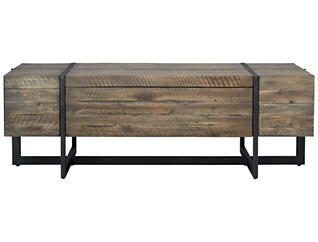 Modern Timber Rectangular Table, Natural, , large