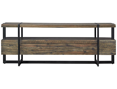Modern Timber Console, Brown, , large