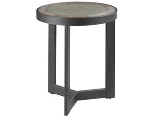 Greystone Round End Table, Oak, , large