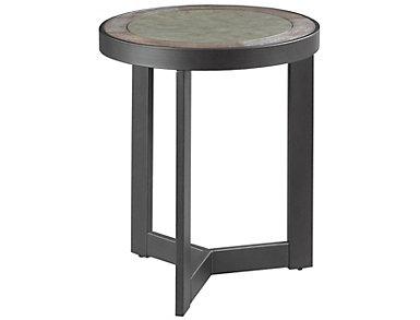 Greystone Round End Table, Oak, , large