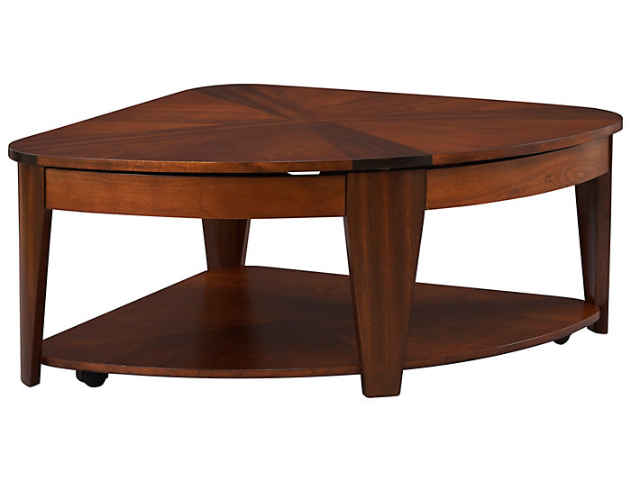 Oasis Wedge Lift Top Coffee Table Brown Large
