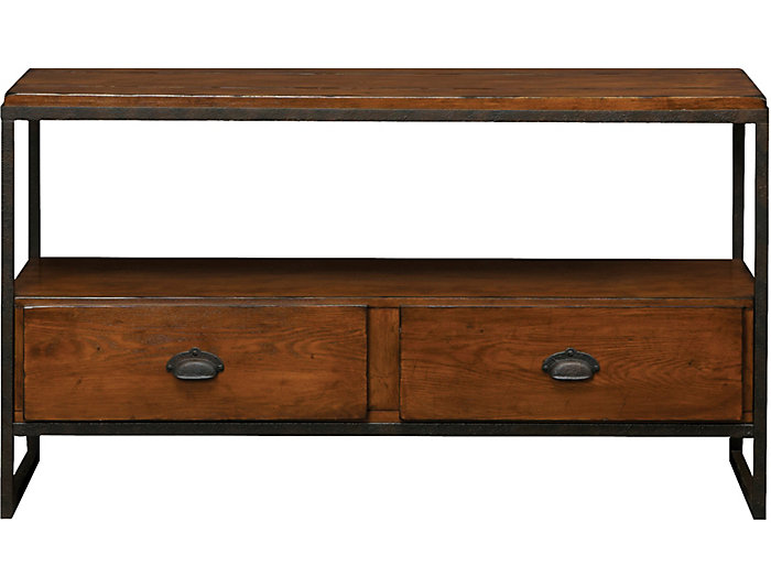 Media Console Table, Brown, , large