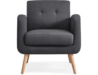 Talbot Grey Accent Chair, Grey, large