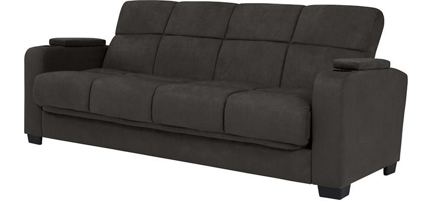 Lee Dark Grey Microfiber Sofa Bed