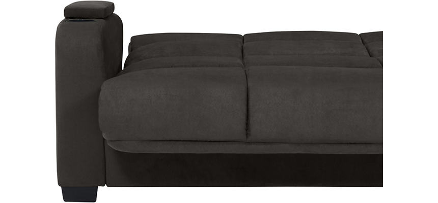 Lee Dark Grey Microfiber Sofa Bed