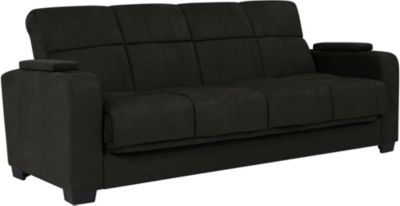 Lee Microfiber Sofa Bed, Black, swatch