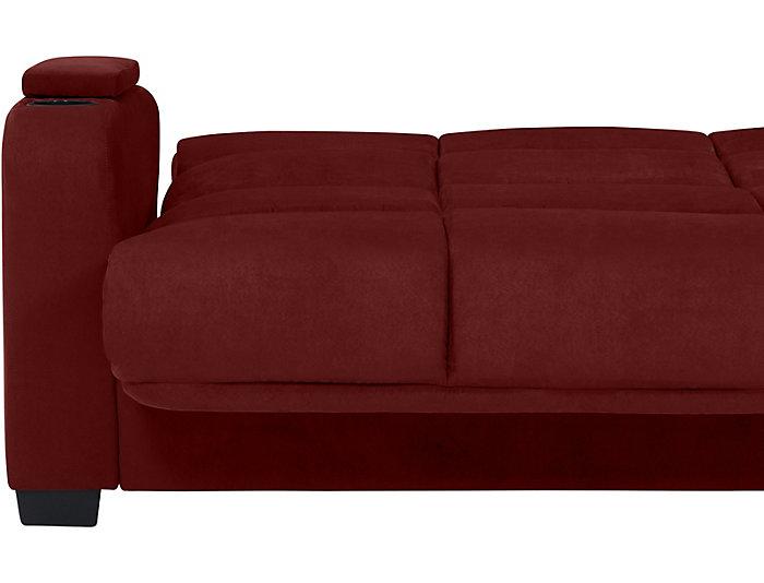 Lee Red Microfiber Sofa Bed | Art Van Home