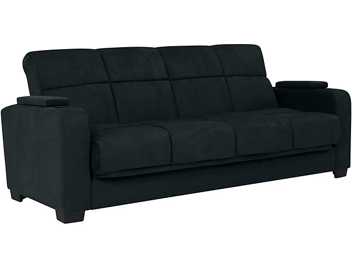 Lee Blue Microfiber Sofa Bed | Art Van Home