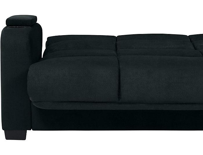 Excellent Lee Blue Microfiber Sofa Bed Art Van Home Uwap Interior Chair Design Uwaporg