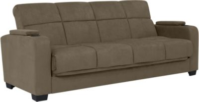 Lee Microfiber Sofa Bed, Grey, swatch