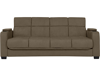 Lee Grey Microfiber Sofa Bed, Grey, large