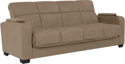 Lee Microfiber Sofa Bed, Beige, swatch