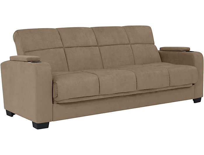 Lee Beige Microfiber Sofa Bed Large