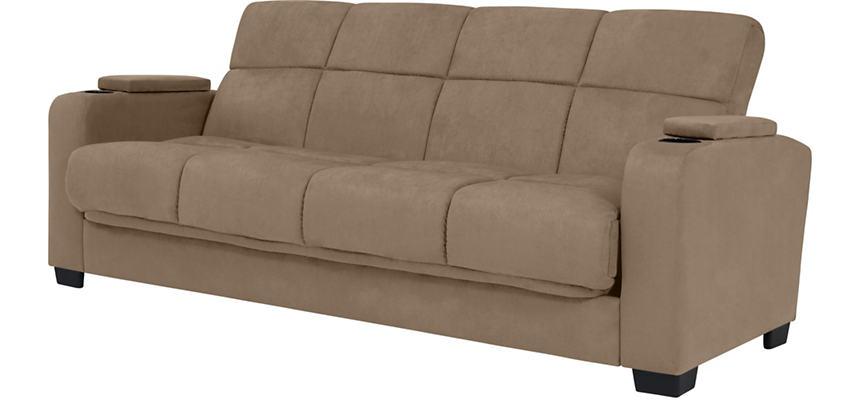 Lee Beige Microfiber Sofa Bed
