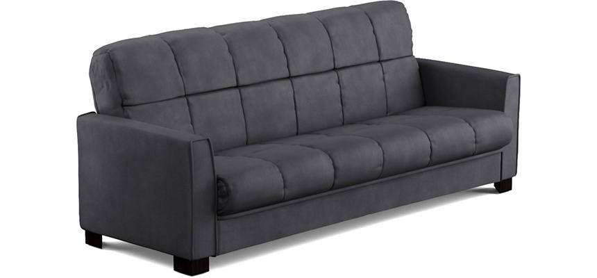 Jax Grey Microfiber Sofa Bed