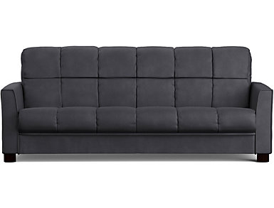 Jax Grey Microfiber Sofa Bed, Grey, large