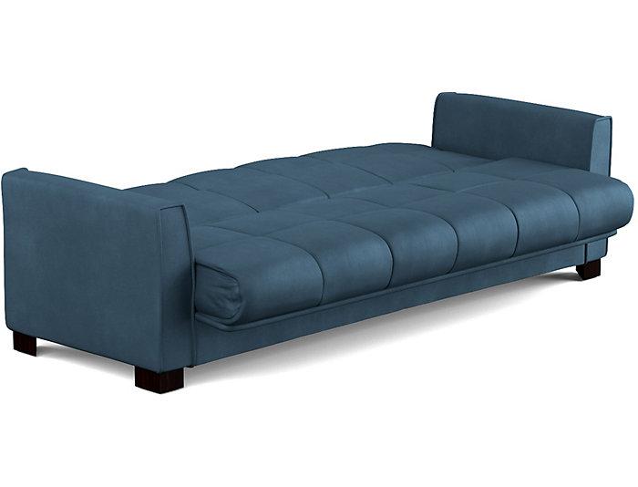 Jax Blue Microfiber Sofa Bed | Art Van Home